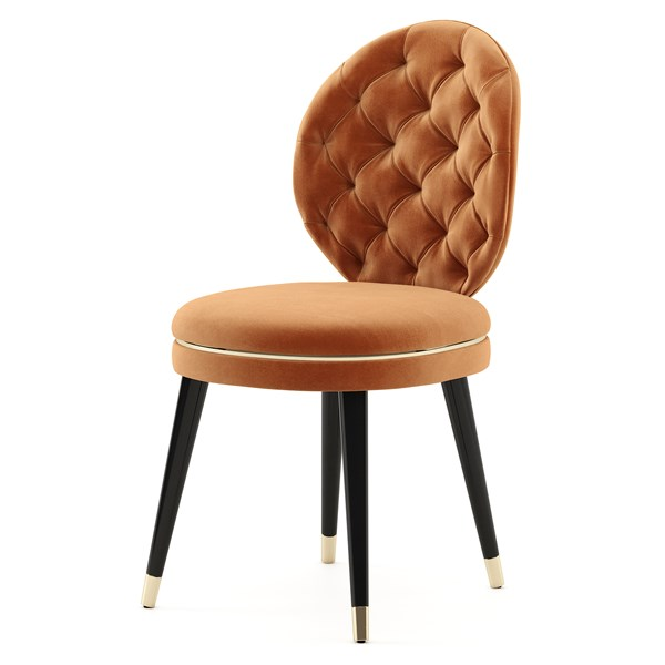 The Capitone Gold Belt Chair