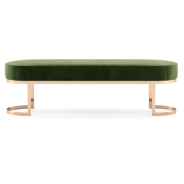 The Deco Polished Rose Gold Bench
