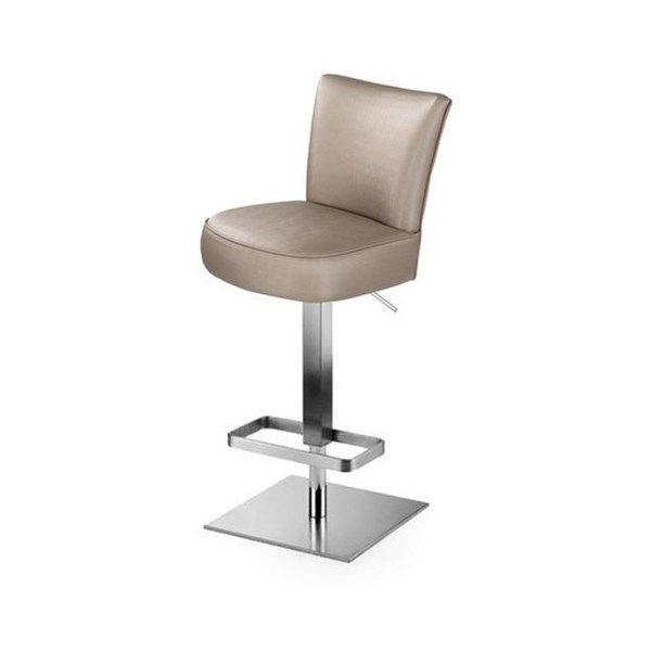 The Smythe Upholstered Bar Stool With Square Base