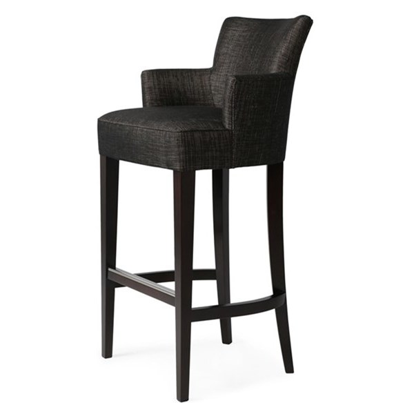 The Plush Carver Upholstered Bar Stool