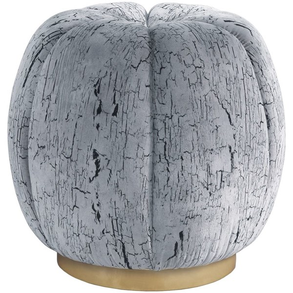 Torcello Upholstered Stainless Steel Pouf