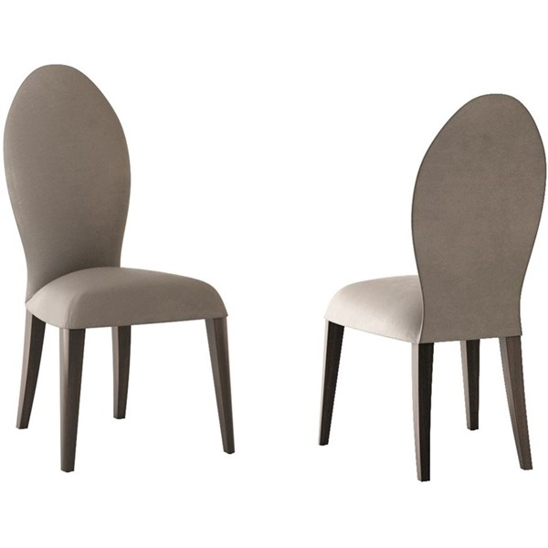 Touched D Coliseum Upholstered Leather & Beech Oval Backed Chair