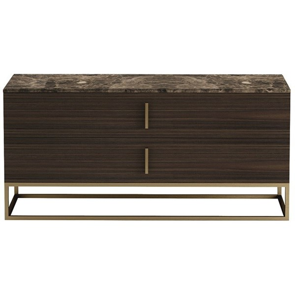 Touched D Infinity Gloss Canaletto, Marble & Brass Dresser