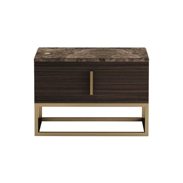 Touched D Infinity Gloss Canaletto, Marble & Brass Night-Stand