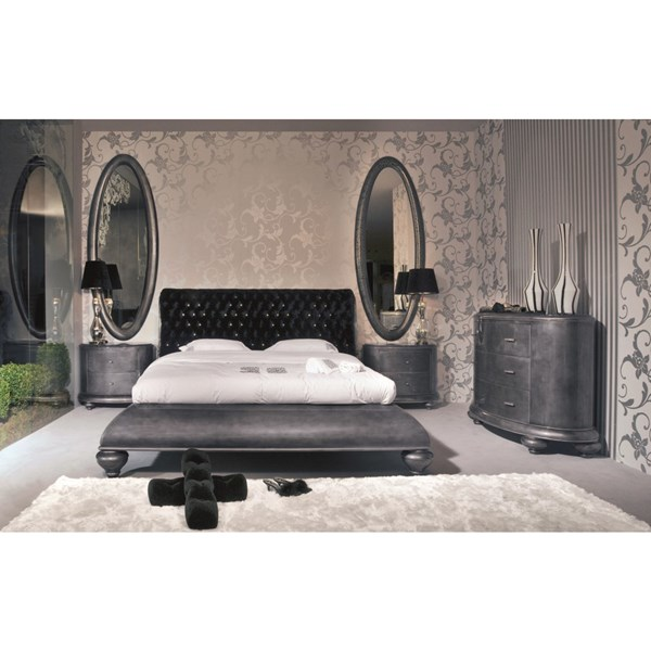 Venezia King Size black velvet diamante Headboard