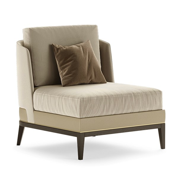 Venti Armchair With Brushed Brass Inserts