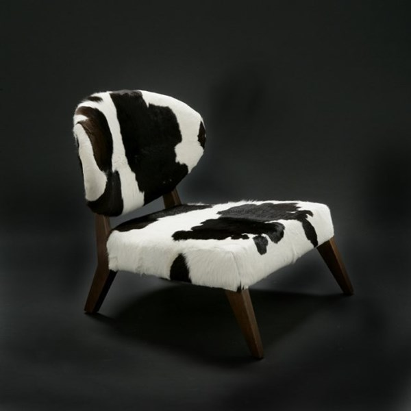 Luxury Upholstered Cow Skin Chair