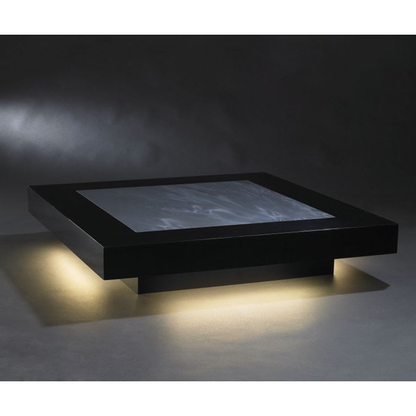 Luxury illuminated square coffee table