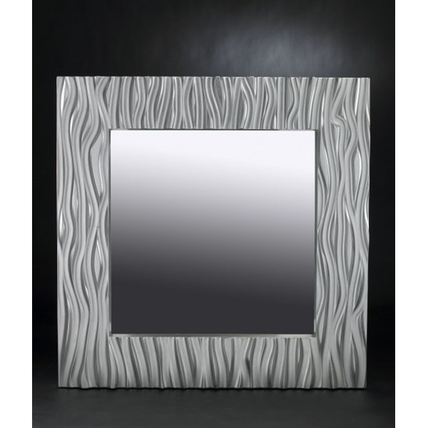 Luxury silver leaf square mirror