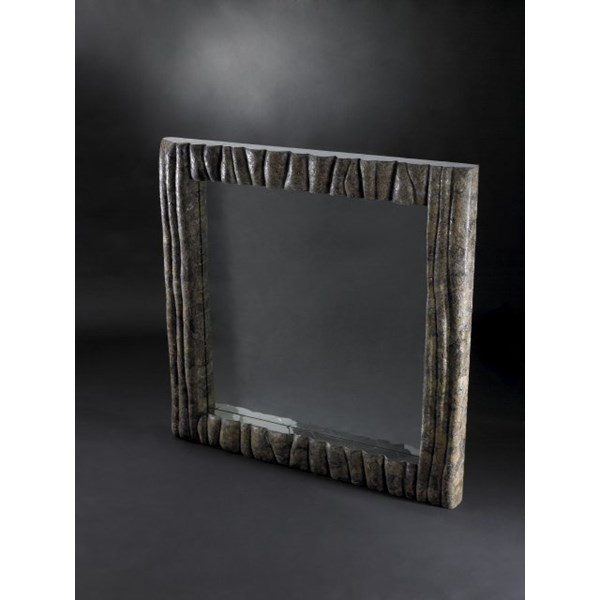Luxury brown natural square mirror