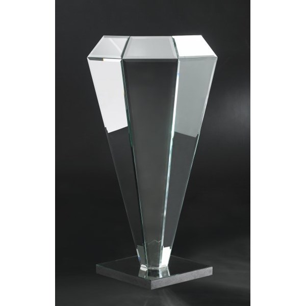 Luxury Mirrored Glass Bevelled Pyramid Column