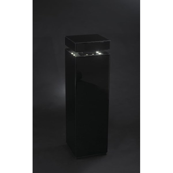 Luxury Tall Black Glass Led Illuminated Post