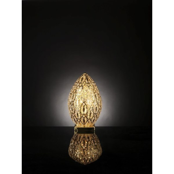 Luxury 53 cm tall LED Asfour crystal Gold lamp