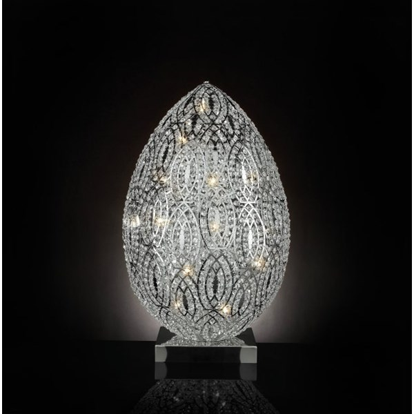 Luxury 90 cm tall LED Asfour crystal silver lamp