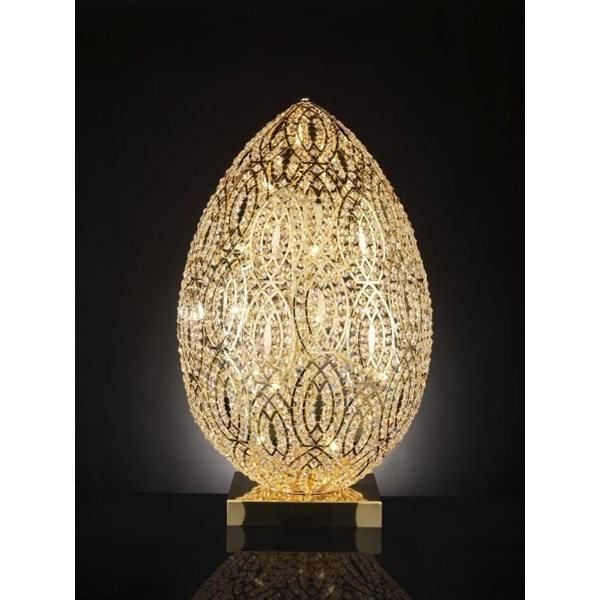 Luxury 90 cm tall LED Asfour crystal gold lamp
