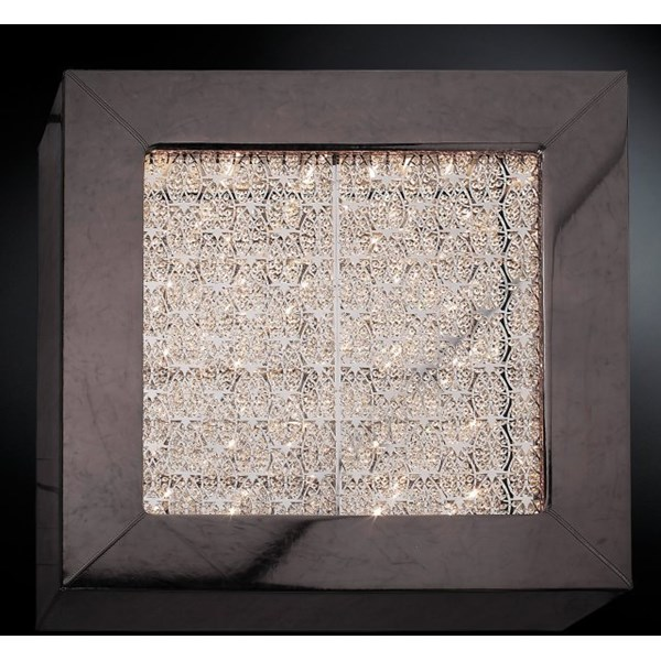 Luxury Asfour crystal large box wall light