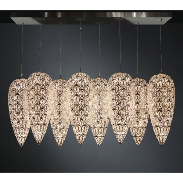Luxury LED 240 cm wide Asfour Crystal Chandelier