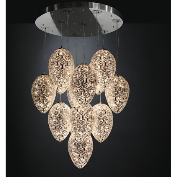 Luxury LED 330 cm drop 14 Shade Asfour Crystal chandelier