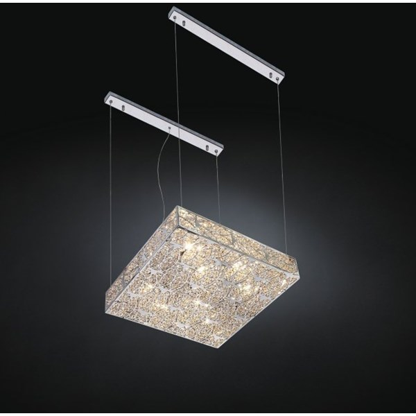 Luxury LED suspended Asfour Crystal Chandelier