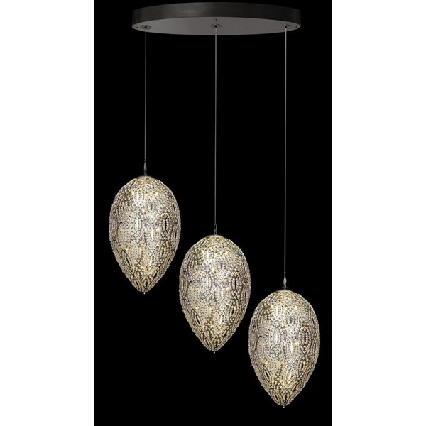 Luxury LED 233 cm 3 shade Asfour crystal chandelier