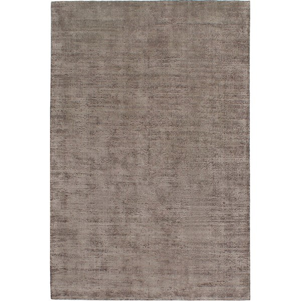 Wool And Viscose Two Tone Textured Taupe Rug