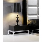 Black and silver base bedside table
