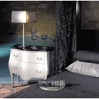 Black and silver distressed antique chest with 2 drawers