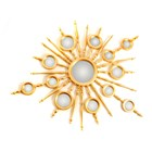 Luxury Sunset Burst Gold Leafed Mirror