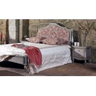 Distressed silver king size bed with headboard