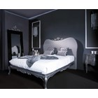 Silver carving King Size bed with headboard