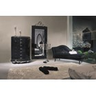 Black gloss rectangular mirror with silver carving 230 x 100 cm
