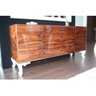 High Gloss Walnut Carved White Sideboard