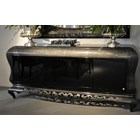 Carved Glossy lead and black sideboard