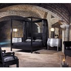 Black Four poster King Size bed with headboard