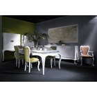 White gloss rectangular dining table. 200 x 100 cm