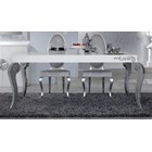 Luxus Carved White And Silver Leaf Dining Table