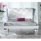 Magnus White and Silver Leaf bed