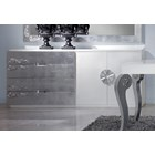 Luxus Carved White And Silver Leaf Sideboard
