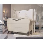 Spacium cream gloss and silver chest with 3 drawers