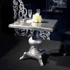 Square gloss silver table