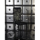Luxury Upholstered Black Feather Chair