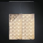 Luxury LED 100 cm Wide Asfour Crystal Box Chandelier
