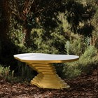 Wave Carved Tiered Gold Table