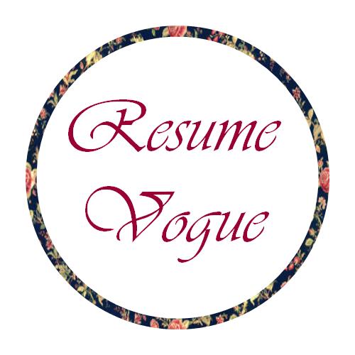 resume vogueprofessional resume writing editing preperation service logo