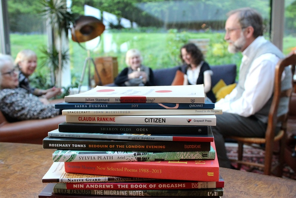 Large sussex sticks books and soft focus people