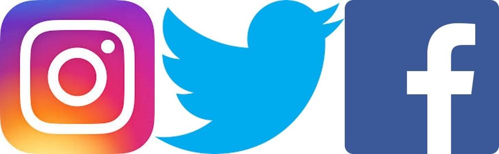 Large social media logos