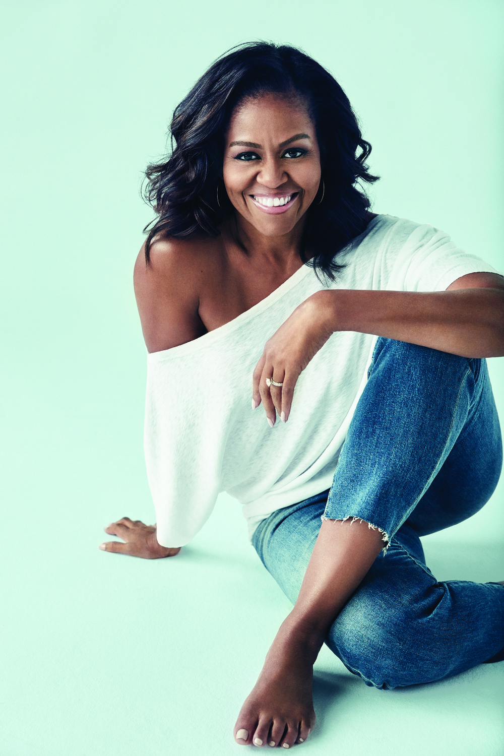 Large michelle obama author photo blue copyright miller mobley
