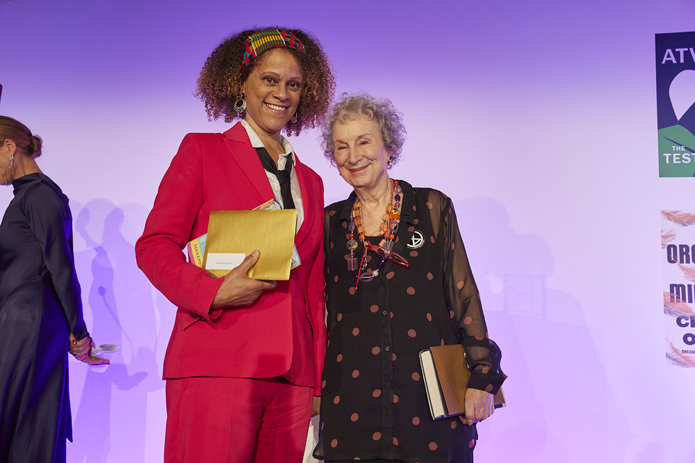 Large 2019 booker prize winners  bernardine evaristo and margaret atwood at the 2019 booker prize winner ceremony credit the booker prize