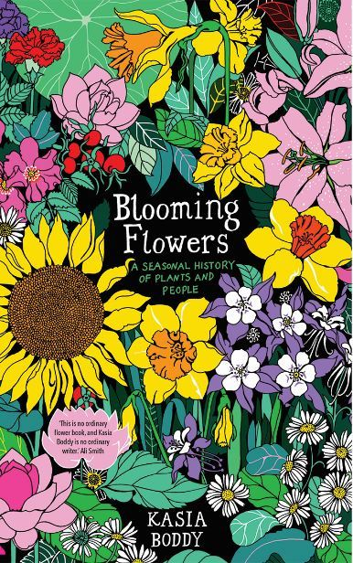 Large blooming flowers cover