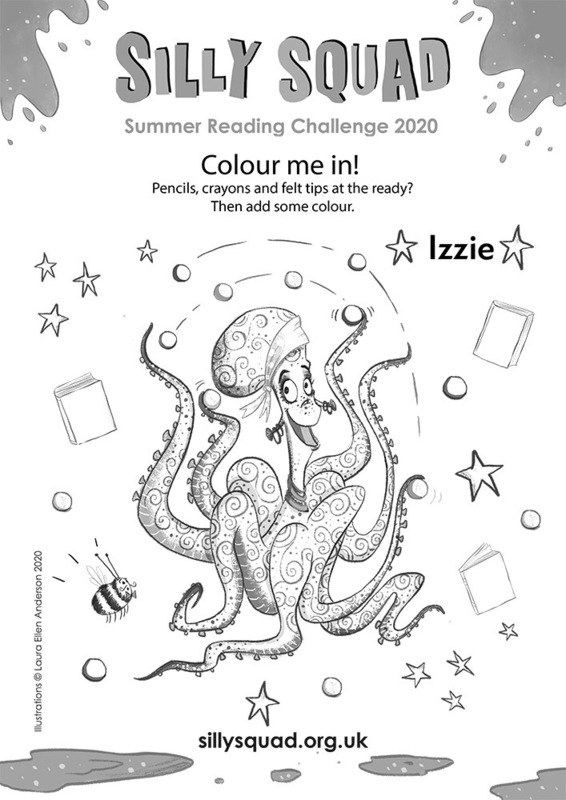 Colour in Izzie the Octopus!